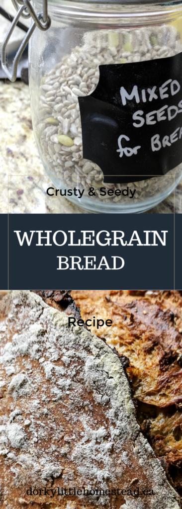 Whole grain bread pin