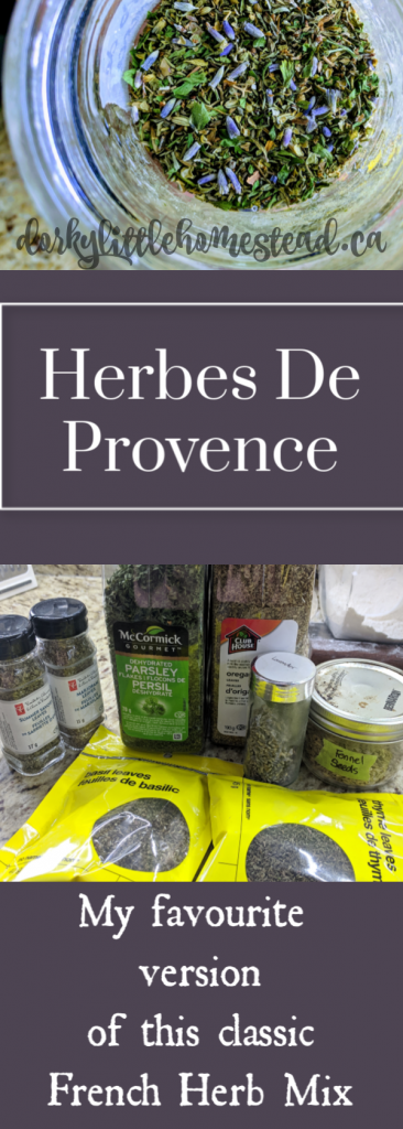 The Recipe I use for Herbes De Provence