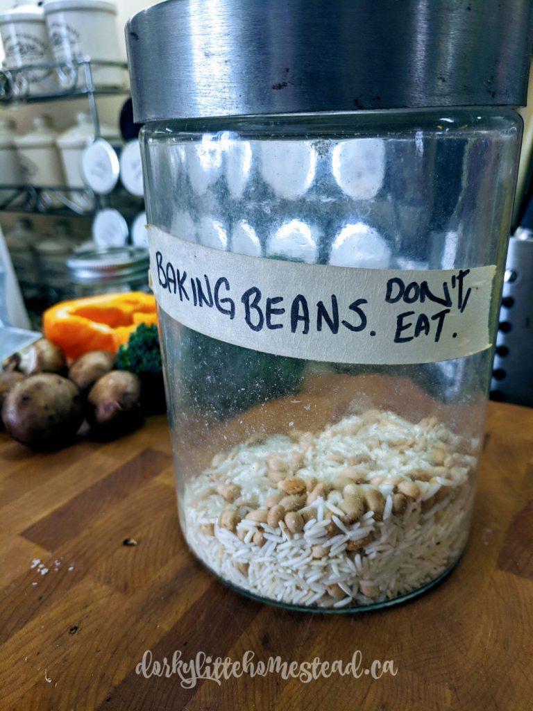 my baking bean jar for par baking quiche