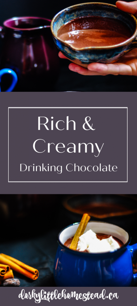 An intense and rich alternative to your standard Hot Chocolate. This more traditional drinking chocolate will become your new Fave!