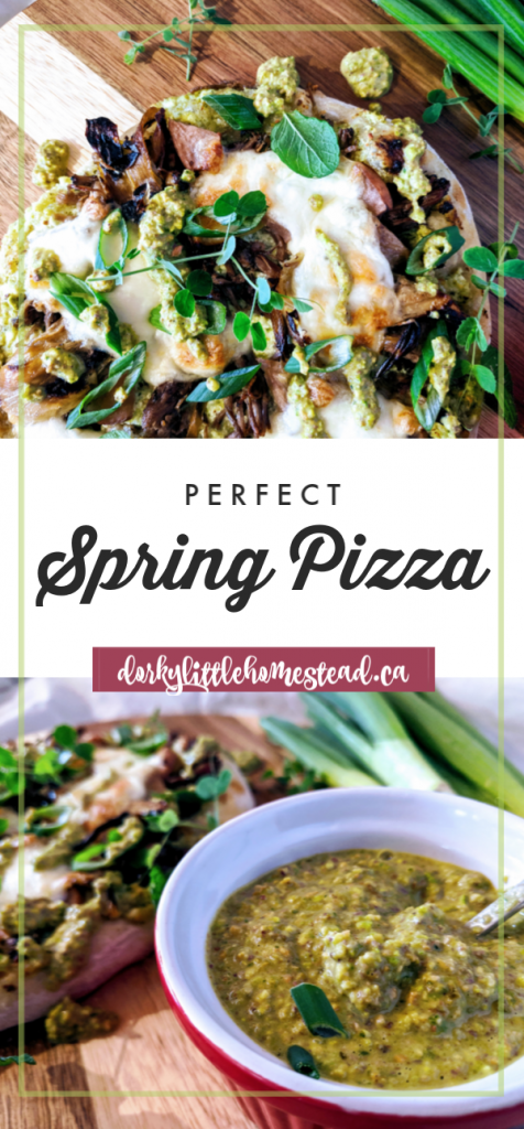 Get into the spring spirit with this fresh pizza. Bursting with Spring flavours, it's green and hearty and Oh So Delish!