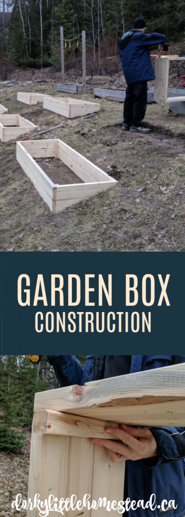 A How-To, with pictures for building raised garden boxes.