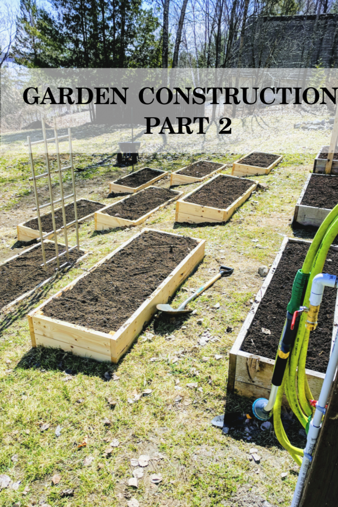 Part 2 of our adventure in building our new vegetable garden on our little hillside homestead.