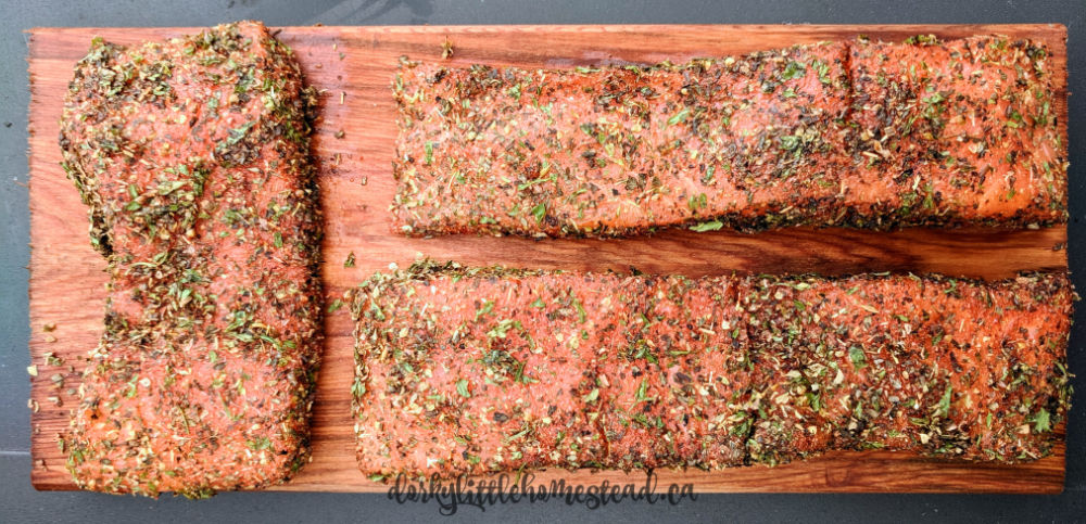 Salmon Fillets ready for the grill.