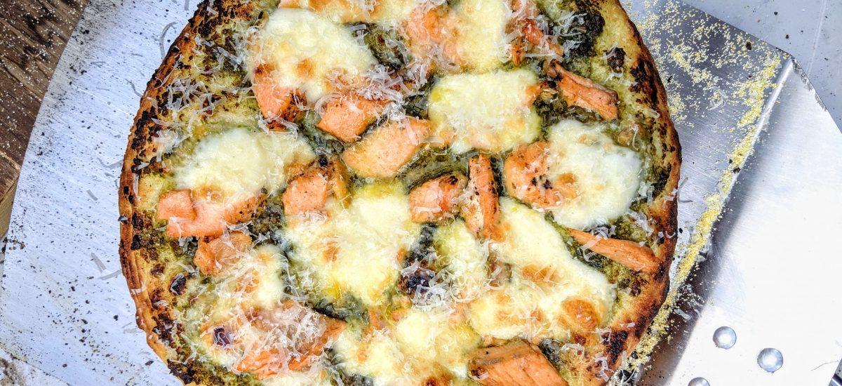 Salmon & Pesto Pizza