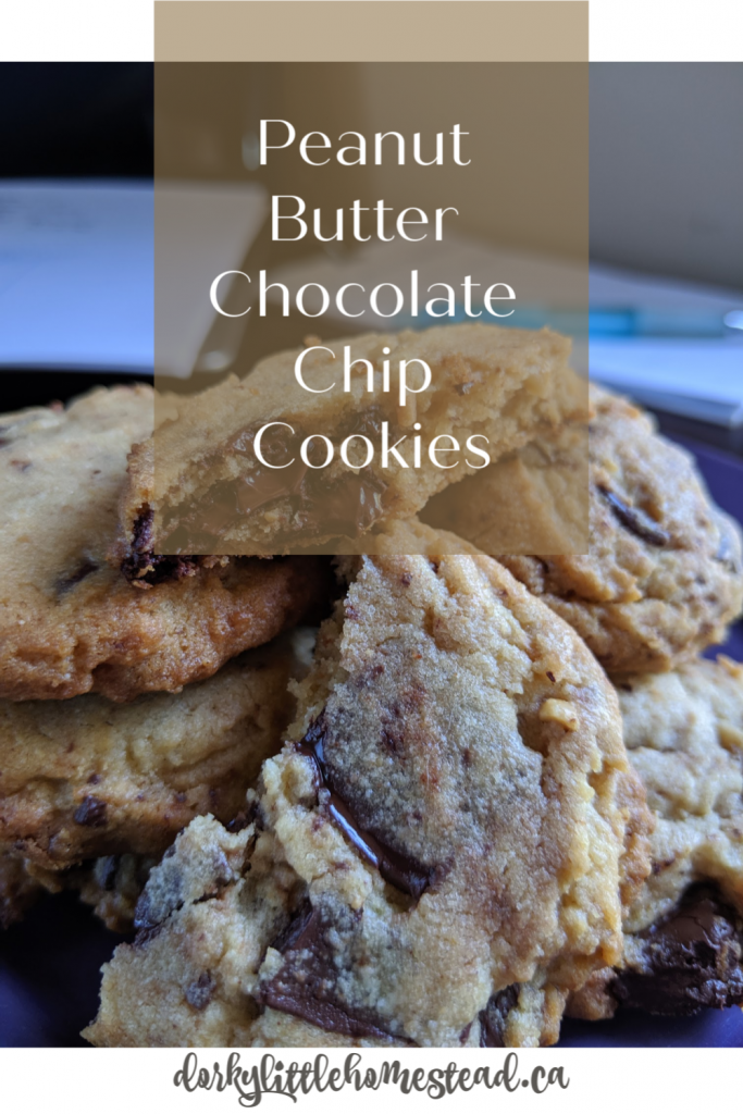 These Peanut Butter Chocolate Chip cookies are soft and chewy, and simply loaded with chocolate chunks