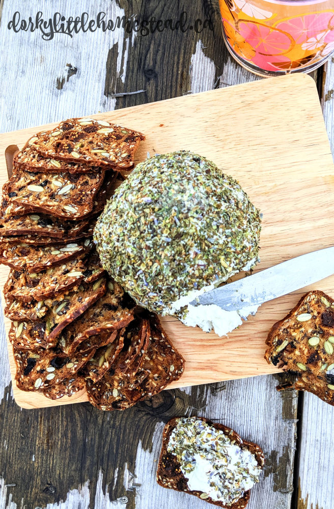 Dig in to this creamy, herby goat cheese ball