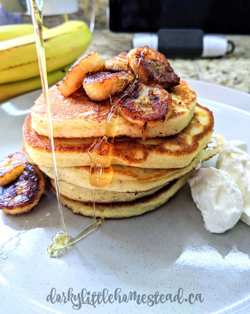 Ricotta Pancakes drizzled with honey