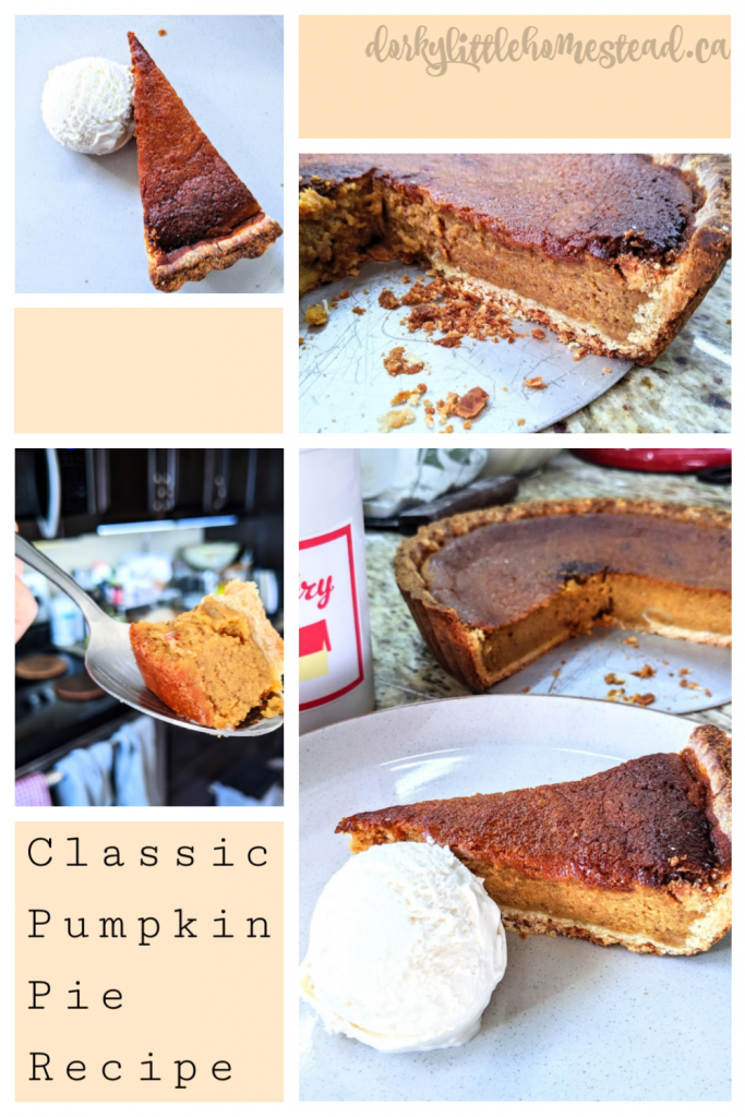 Nothing says Autumn like sweet pumpkin pie. This is my classic recipe, that works with fresh or canned pumpkin.