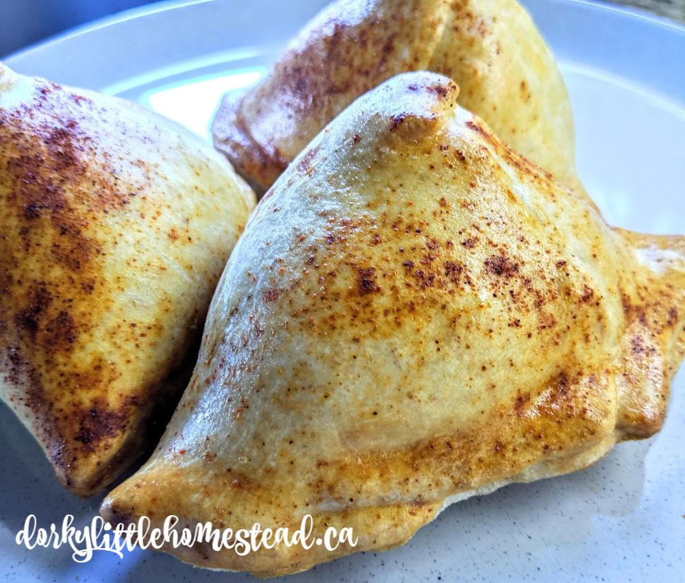 Warm buttery samosas