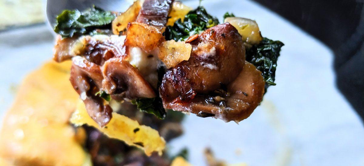 Mushroom & Kale Gallette