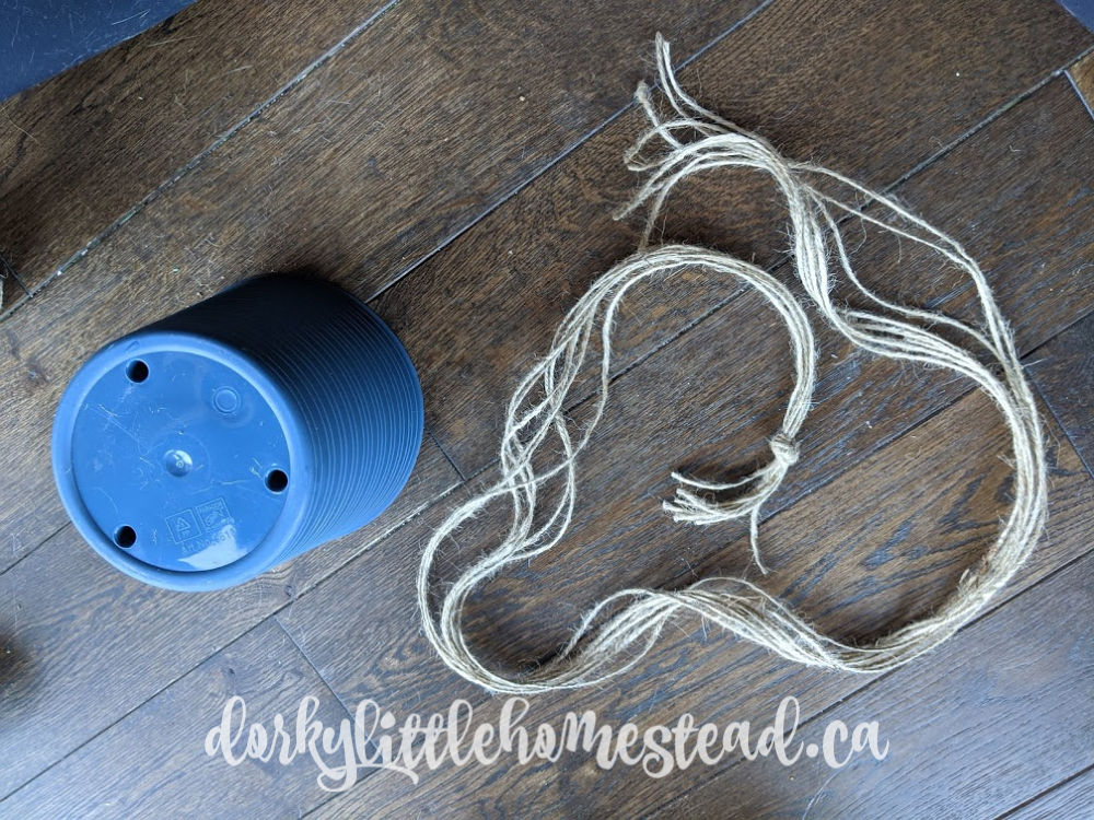 Preparing for your macrame planter hanger