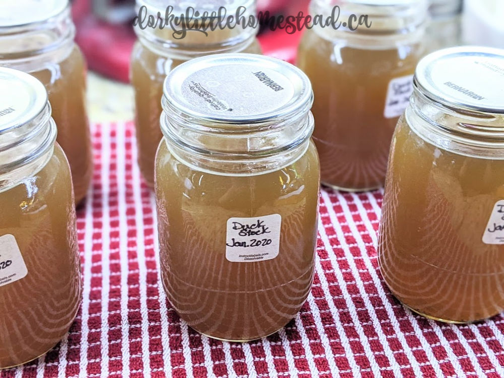 Happily pressure canned stock jars