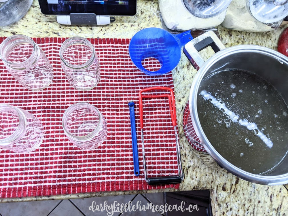 Equipment setup for pressure canning