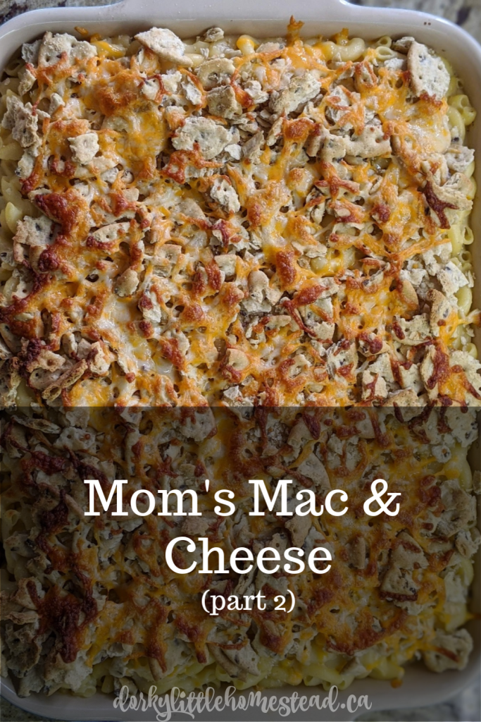A crisp baked mac & cheese, just the way my mom used to make! A perfect winter comfort food, great for meal prep.