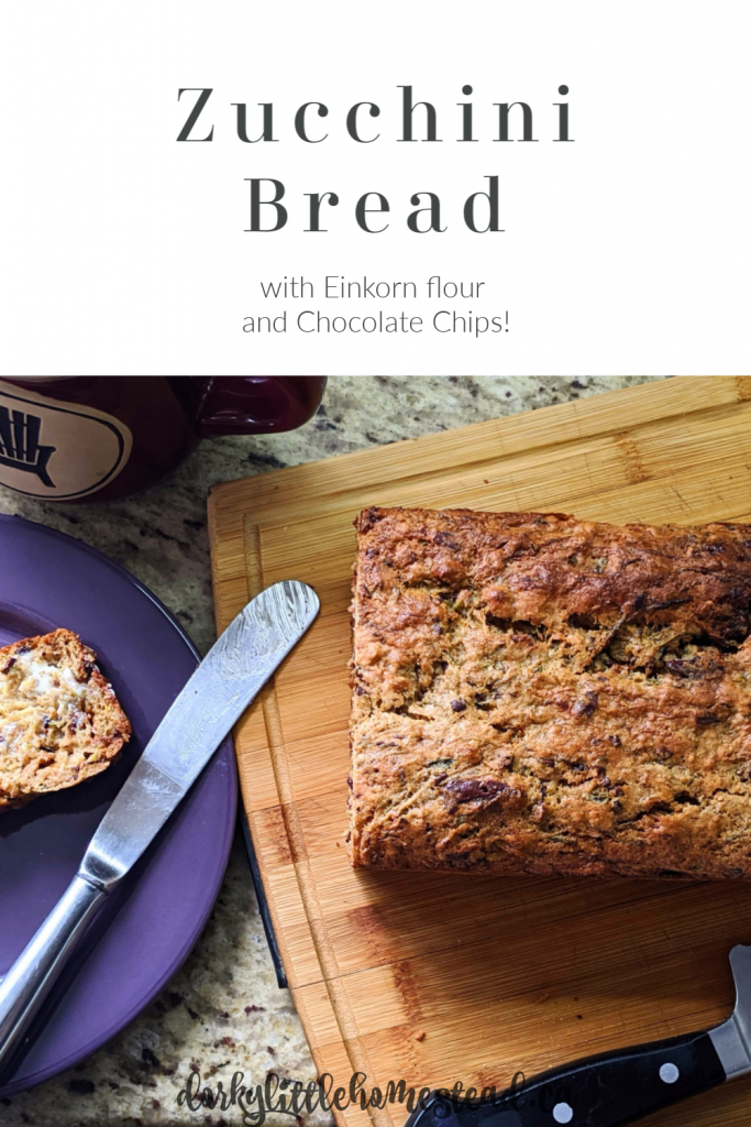 A simple Zucchini Bread recipe using einkorn flour, and sweetened with maple syrup. Perfect for your #quarantinebaking !