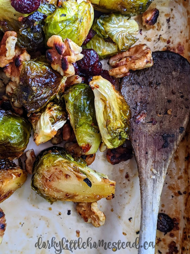 Delicious crispy edged Brussels sprouts