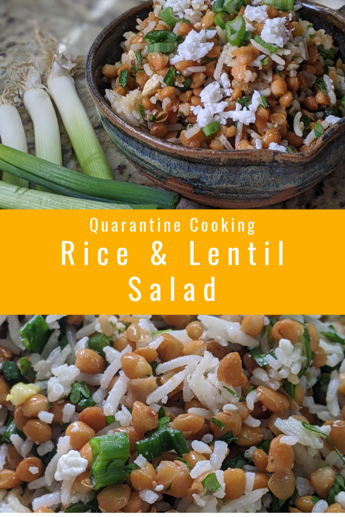 Looking for ways to cut down your trips to the grocery store during the pandemic? Good for you! How about this delicious Rice & Lentil Salad!