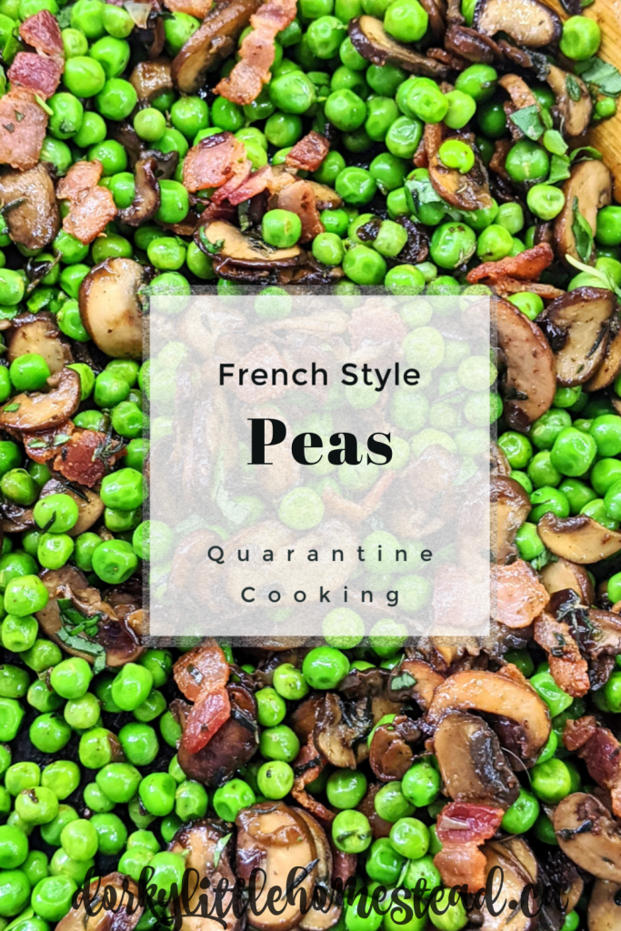 Spring peas, chunky bacon pieces, and buttery mushrooms. This side dish is the only way I cook peas and hopefully will become a favourite for you as well!