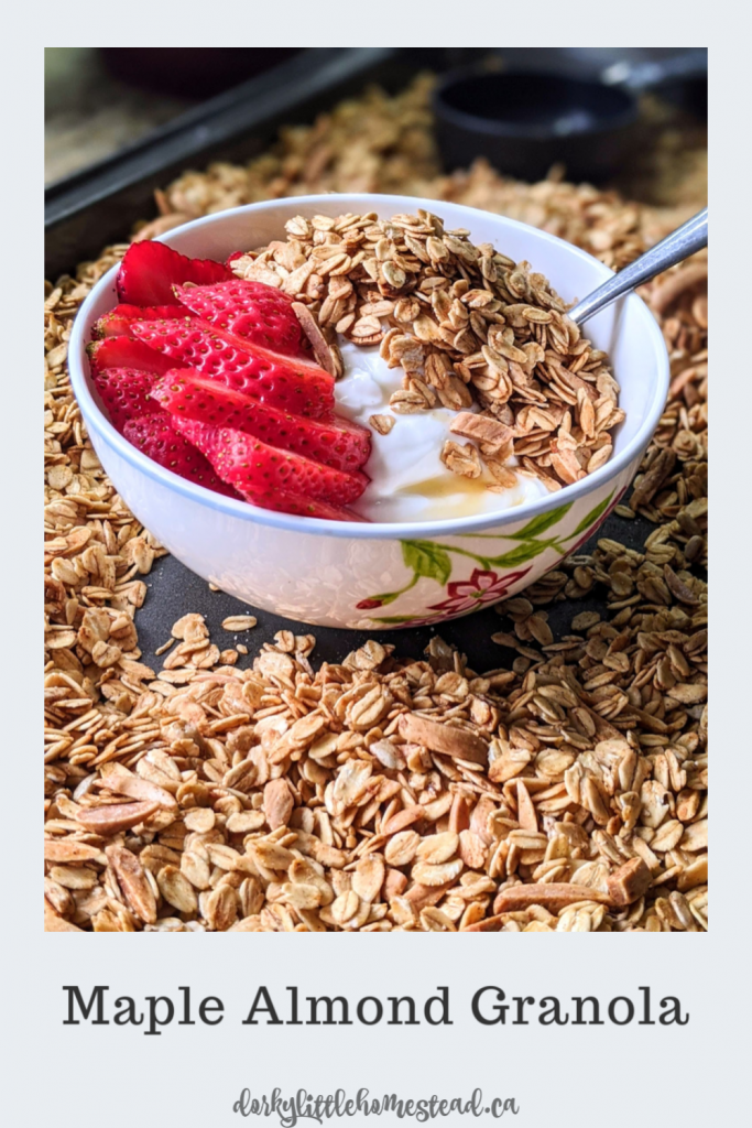 Granola is one of our favourite additions to our weekly meal prep. It's high in fiber, so it's filling, making it a great breakfast or snack.
