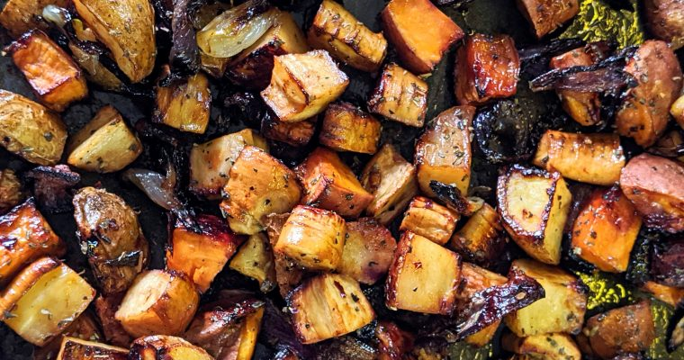 Balsamic Roasted Roots
