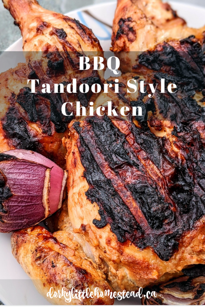 A BBQ recreation of the traditional Indian dish Tandoori Chicken. Combining the smokiness of BBQ cooking with delicious Indian inspired spices.
