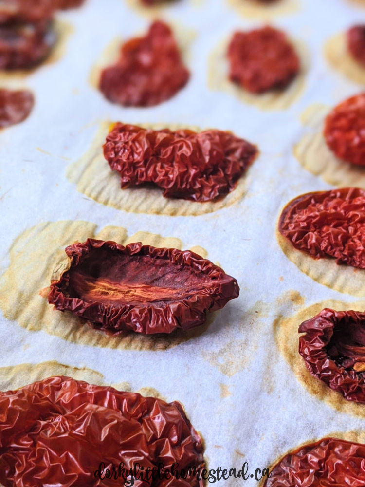 Drying Tomatoes in the oven