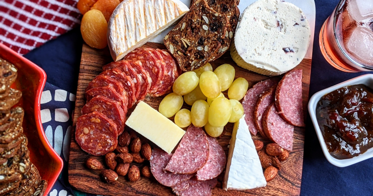 Simple Charcuterie Board for Two