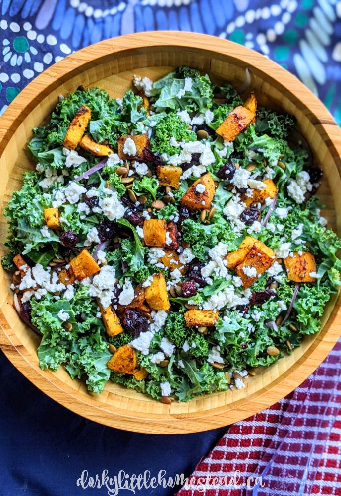 Kale & Pumpkin Salad