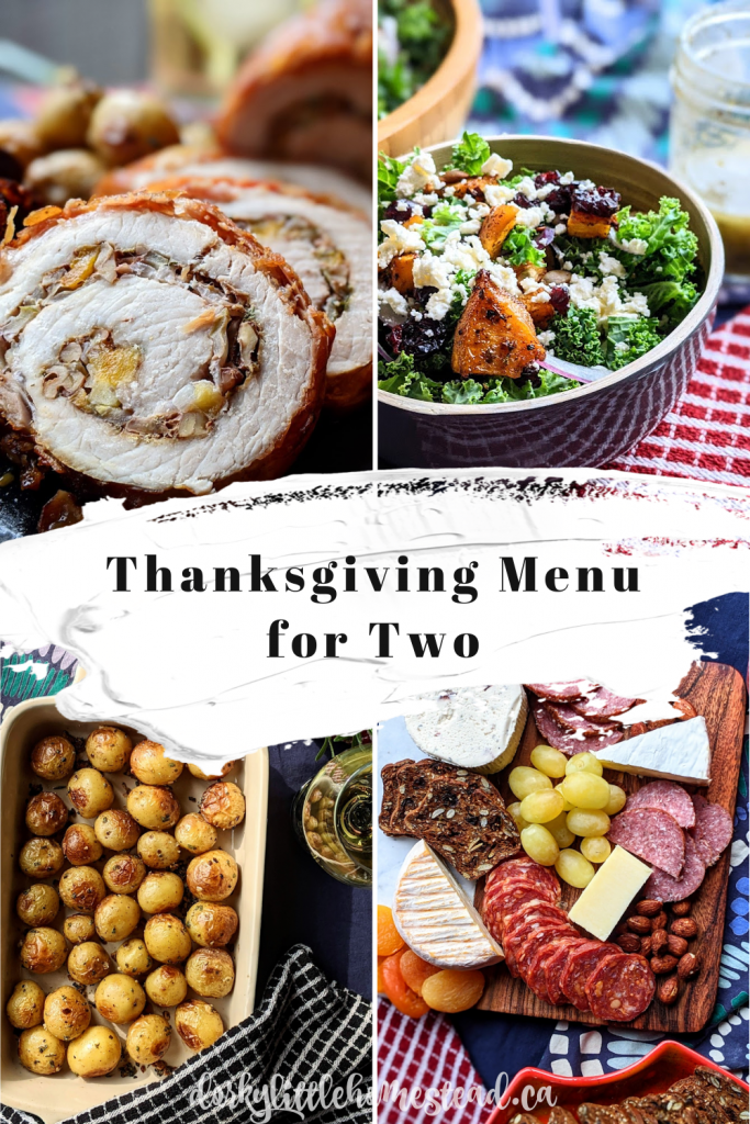 The perfect Thanksgiving menu for two people. Exactly what we need for this very strange and isolated holiday.