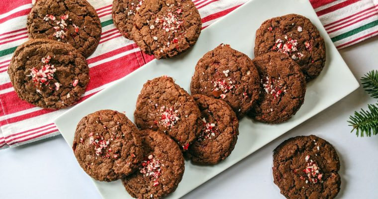 Double Chocolate Candy Cane Cookies
