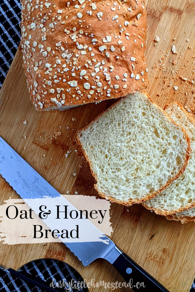 Oat & Honey Bread. Slightly nutty from the oats, and slightly sweet from the honey, this is truly a luxurious loaf of bread.