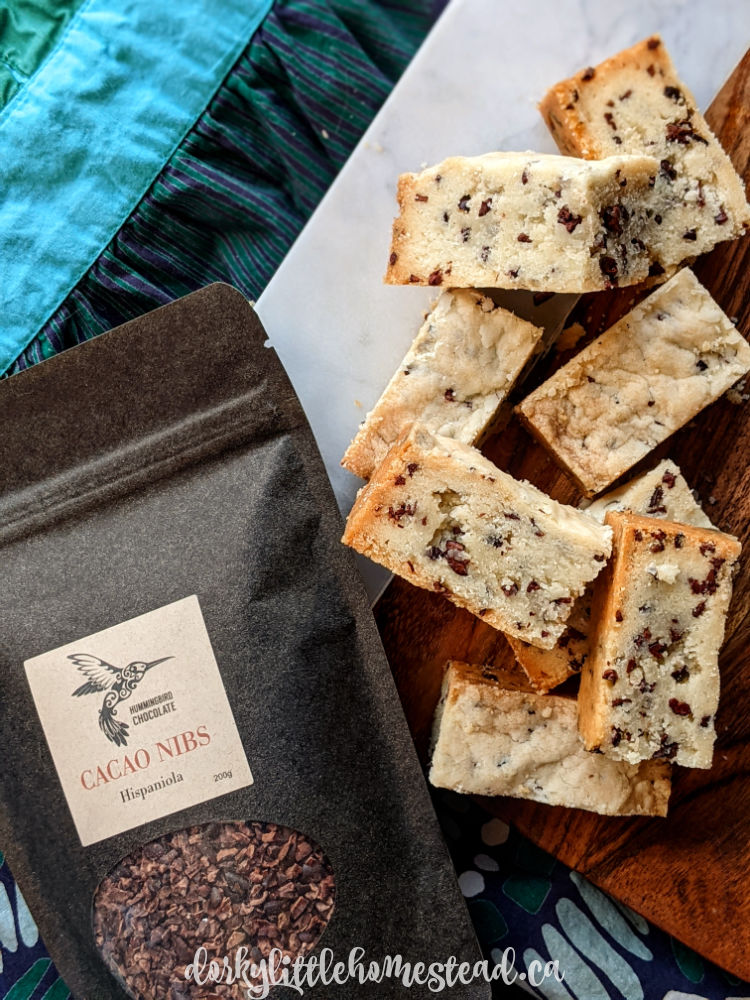 Shortbread with Cacao Nibs