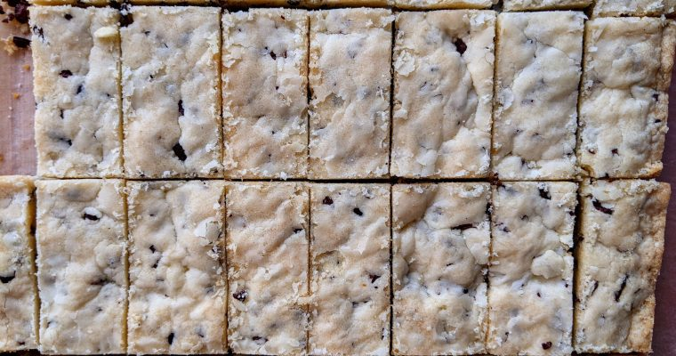 Shortbread with Cacao Nibs