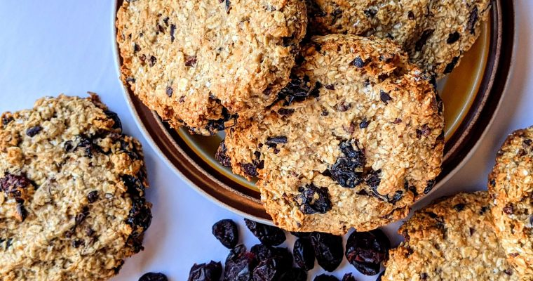 Breakfast Cookies with Cranberries & Cocoa Nibs