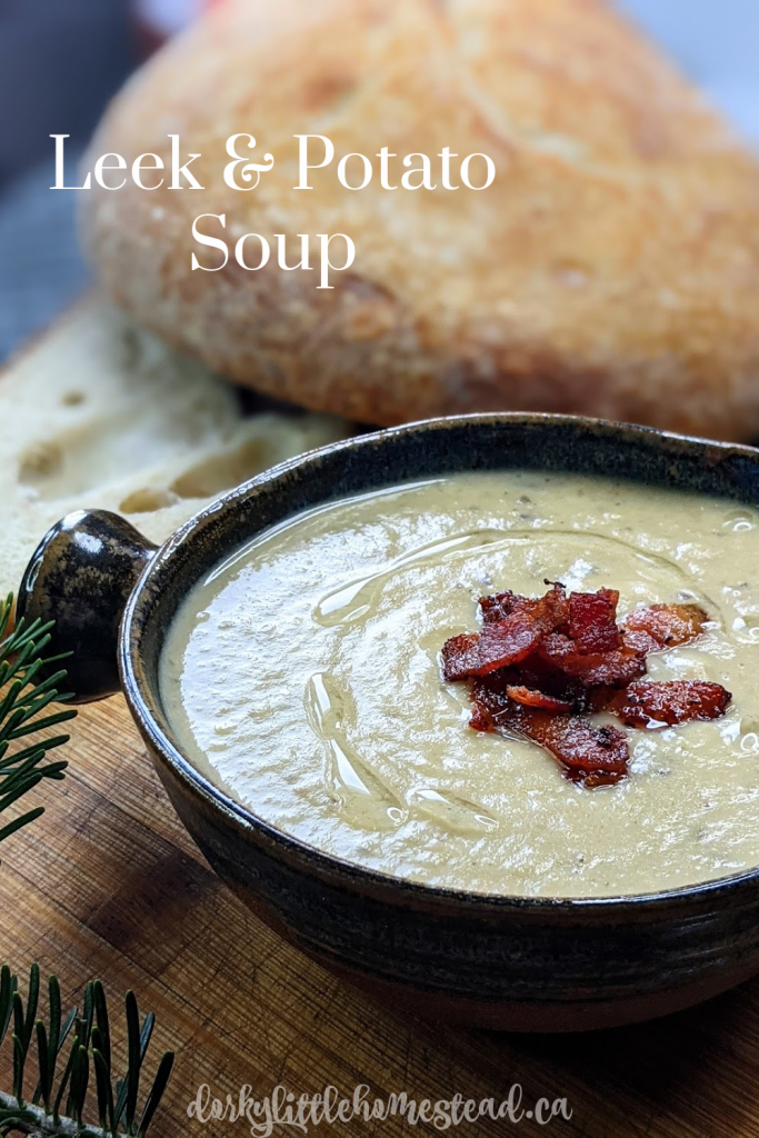 Leek & Potato Soup is rich, and hearty; perfect for warming you right to your core, alongside some crusty bread and a cup of tea.