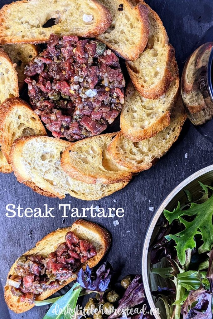 Steak Tartare is one of my favourite classy lunch recipes. With toasted baguette slices and a glass of red wine, it's a perfect Sunday meal.